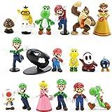 Set di 18 Personaggi Super Mario Bros Action Figure Giocattoli Modello Bambole Decorazioni...