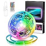 StillCool Tiras de luz LED 16.4 Ft,Tiras LED Bluetooth LED 5050 5M RGB Con Música para El Hogar, La Habitación, Dormitorio, Techo, 12V y La cocina Lluminación Decorativa