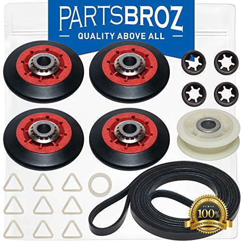 4392067 Dryer Repair Kit by PartsBroz - Compatible with 27-in. Whirlpool Dryers - Replaces Part Numbers AP3109602, 2015, 4392067VP, 587637, 80047, AH373088, EA373088 & PS373088
