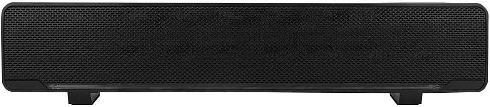 MP4 e Altro Soundbar per PC MP3 Nero TV Altoparlante Stereo cablato USB Portatile da 3,5 mm Lettore Musicale in Ingresso Bass Surround Sound Box Senza Perdita per Laptop Desktop