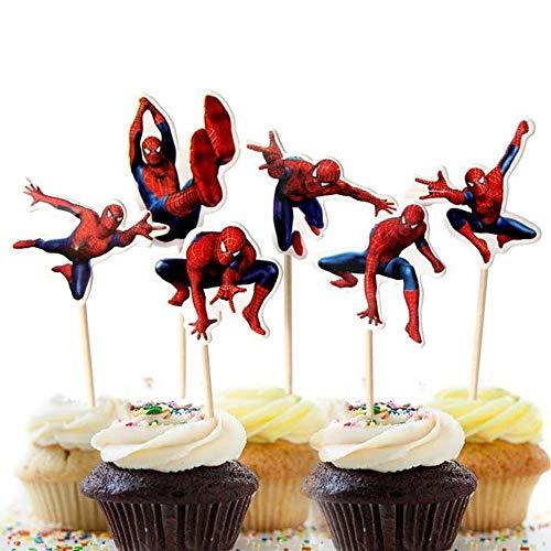 Zahnstocher Flaggen 24 Stück Cupcake Toppers Cupcake-Dekoration Kinder Geburtstag Hochzeiten Baby Duschen Hochzeit Party Supplies Dekor Gefälligkeiten