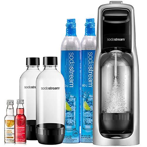 SodaStream Jet Sparkling Water Maker, Bundle, Silver