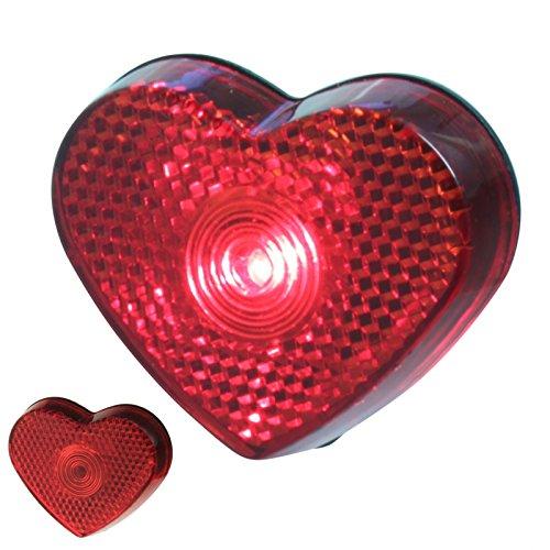 Unbekannt 1 x LED Herz Rot Blinklicht Oktoberfest Valentinstag Love Wiesen Liebe Schule Kind Reflektor