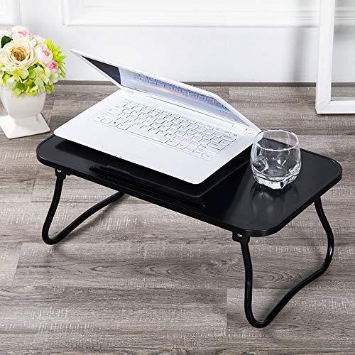 Bed Laptop Tafel, opvouwbare Plastic Lazy tafel, met opvouwbare U-vormige poten en de kaartgleuf, voor die Ontbijt Kijken Movie,Black