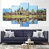 QQQAA 5 Leinwand Druck Kunst Poster Angkor Wat Tempel