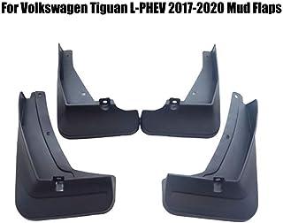 Mud Flaps Guardabarros Guardabarros 4pcs Fender protector, por VW Tiguan R-Line L-phev 2017 2018 2019 2020 frontal superior y trasera Conjunto de protección Moldeado del sistema completo Splash rociad