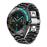 LIGE New Steel Band Mens Smart Watches Health Monitor & Sleep Monitor Monitor Heart Rate Blood Pressure Monitor Smart Activity Tracker Watch Calorie Counter for iOS Android