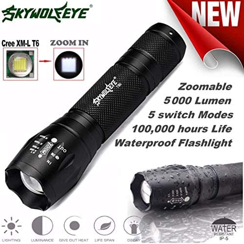 Handheld Flashlights Lookatool Tactical LED G700 SkyWolfeye X800 Zoom Super Bright Military product image