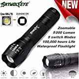 Handheld Flashlights,Lookatool Tactical LED G700 SkyWolfeye X800 Zoom Super Bright Military Grade