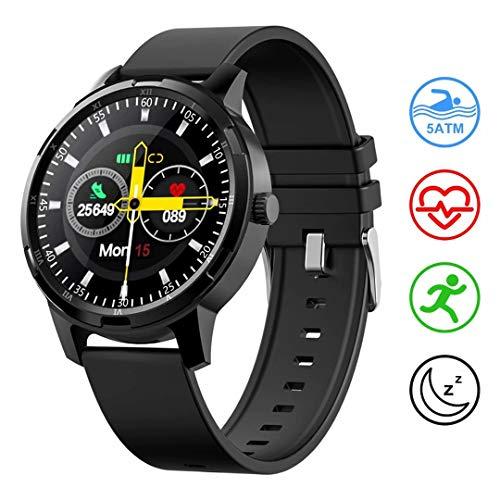 LIDOFIGO Reloj Inteligente Smartwatch IP67 Impermeable Pantalla Táctil Actividad Inteligente Reloj de Fitness Monitor de Sueño Pulsómetro Podómetro Cronómetro Calorías Smart Watch Hombre Mujer