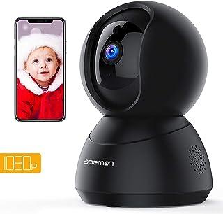 Cámara Vigilancia WiFi Interior Apeman 1080P Cámara IP WiFi Visión Nocturna Audio de 2 Vías Detector de Movimiento