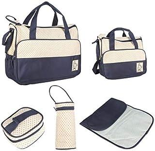 طقم 5 في 1 حقيبة يد متعددة الاستعمالات، للام ولغيار الطفل وللحفاضات - YB1403