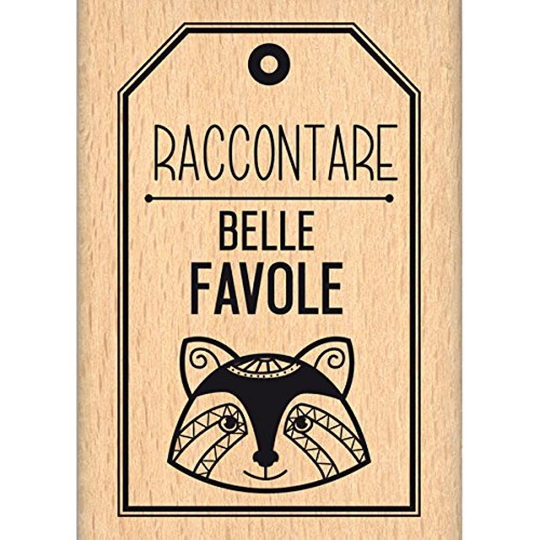 Florilèges Design Beautiful Favole, Wood Stamp, 7?x 5?x 2.5?cm