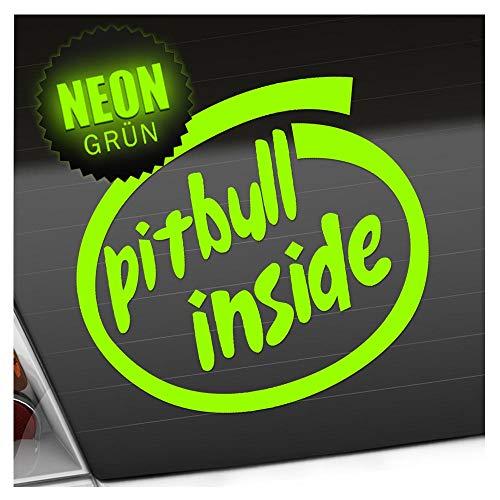 Pitbull Inside en 15 colores - Neon Chrome Pegatina 12 x 11 cm