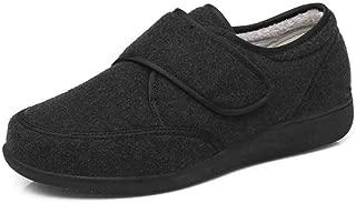 FJJLOVE Edema Zapatos de Mujer, la Diabetes Zapatos Caliente Transpirable Caminar Cojín Zapatillas Aire Calzado de diabéticos de Edad Avanzada pies hinchados Fascitis Plantar,Negro,35
