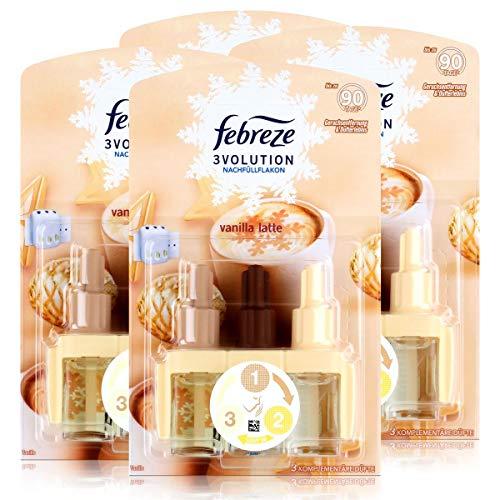 Febreze 3Volution Duftstecker Nachfüllflakon vanilla latte 20ml (4er Pack)