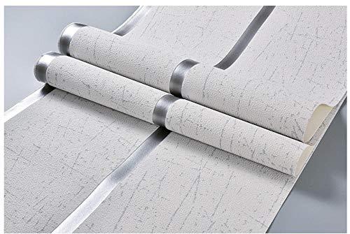 Modern Tapete 3D-geprägtes Wildleder Beflockung breiten Streifen silbergrau vliestapete Für schlafzimmer wohnzimmer TV flur kinderzimmer mauer ornament 0.53 x 9.5m/roll