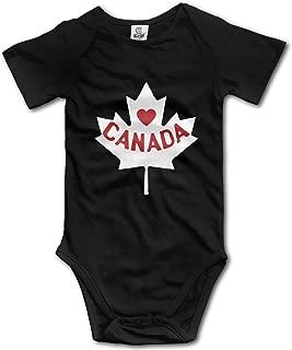 Canada Maple Leaf Kids Girl Boy Short Sleeve Romper Pajamas 0-24M