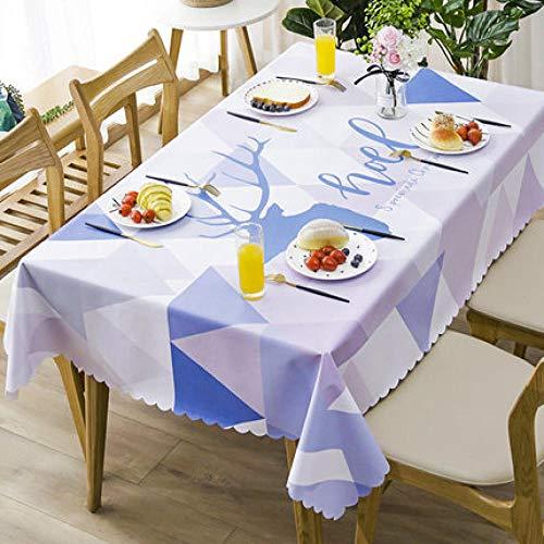 Traann tafelzeil, vierkant tafelkleed, inklapbaar tafelkleed, waterdicht polyester, katoen, voor keukenmeubelen, tv-kast, pad 137*137