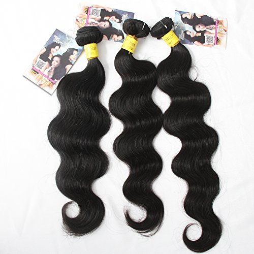 ALI HOTHair Best Quality Brazilian Virgin Hair Extension Body Wave,Mixed Length 14inch 16inch 18inch 3pcs 300g per Lot,Fast Shipping