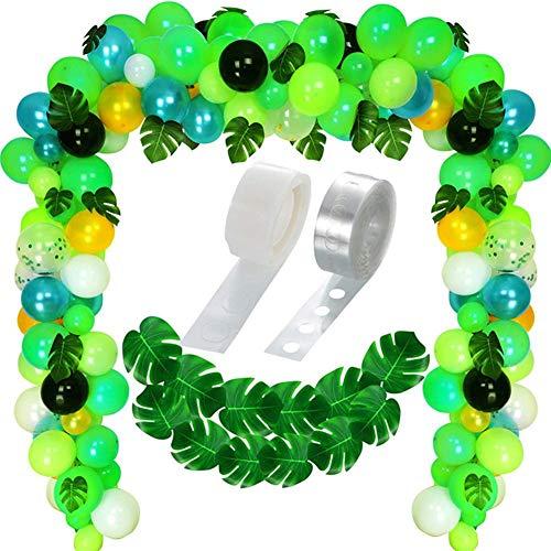 Cracklight - Globos veraniegos Tropicales, guirnaldas con Hojas de Palmera, para Fiestas, cumpleaños, Fiestas, Navidad, Color Verde