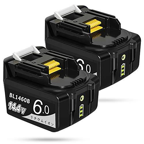 【Amazon 限定ブランド】Gakkiti マキタ 互換 バッテリー 14.4V 6.0Ah makita 互換 バッテリー リチウムイオン電池 BL1430 BL1440 BL1450 BL1460 194065-3 194066-1大容量 互換対応