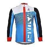 G WELL Chaqueta de ciclismo para hombre Ropa de manga larga Jersey Otoño Invierno Camisa de manga larga EU L=Tag XL