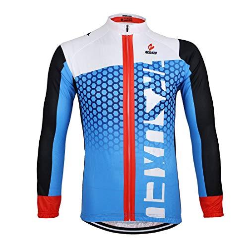 GWELL–Maillot de Ciclismo para Hombre Manga Larga Deportiva para Bicicleta Ropa Ciclismo...