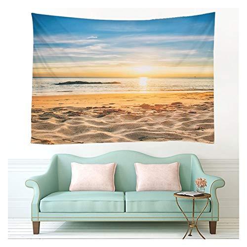 Tapiz Playa Luz del Sol Pared Colgante Tapicería Colchón de Verano Colcha de Colcha 6 tamaños Cubierta de Lanzamiento Camping Tienda de campaña Decoración de Pared Dropship Decoración de Arte