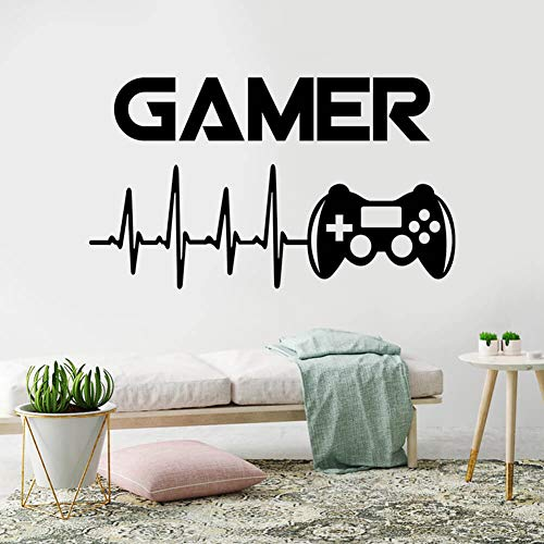 Gamer Wall Decal Wall Sticker for Boys Bedroom Game Room Wall Mural Children Gift Nursery Home Decoration