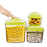 Vacuum Seal Food Storage Containers by GENTEEN-Airtight Food Storage Containers-Pasta Containers for Pantry-Bulk Food Treat Storage Containers for Cereal-Candy Sugar Jar-Cookie Containers-BPA Free