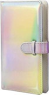 Small Photo Album, Goodsnetic 96 Pocket Mini Album Compatible For Fujifilm Instax Mini 7s 8 8+9 25 26 50s 70 90 Instant Camera, Polaroid PIC-300 Z2300, Portable Wallet Photo Album 2x3 Inch Film,Silver