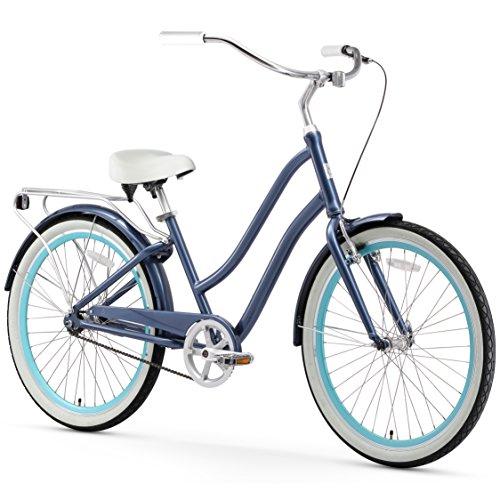Big Save! sixthreezero EVRYjourney Women's 3-Speed Step-Through Hybrid Cruiser Bicycle, 26 Wheels a...