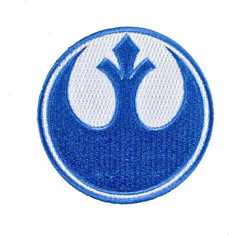 Super6props Star Wars Rebel Alliance Blue Squadron gesticktes Eisen auf Patch Crew Uniform Patch für Cosplay, Kostüm und Kostüm 75mm