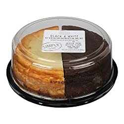 Simply, Clean Label,Black & White Chocolate New York Style Cheesecake, 24 ounces (sold frozen)