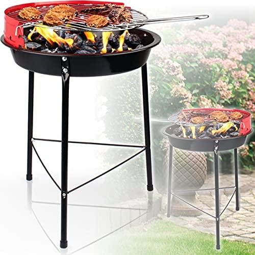 Holzkohlegrill ideal zum Mitnehmen beim Picknick Campen oder Angeln / Rundgrill Grill (Kohlegrill rund)