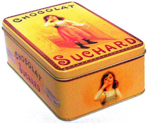boite a sucre metal 19x13x7 cm chocolat suchard