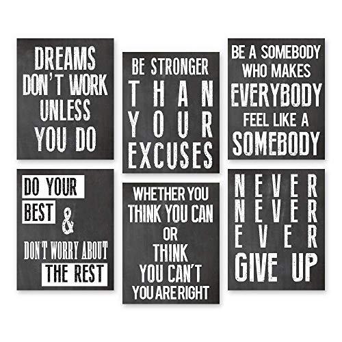 Think! Designs inspirierendes Wandbild mit Zitat, positive Affirmation, Motivations-Wandkunst, Bilder, lustige Büro-Wand-Dekoration, Kunst für Wohnzimmer, Schlafzimmer, Wände, Büro Kunst 8x10 Office1