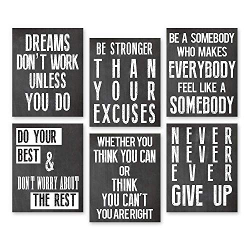 Inspirational Wall Art Poster Prints Quote Positive Affirmation Motivational Wall Art Quotes...