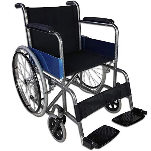 ZYLZL Für Ältere Rollstuhl Faltbare Manueller Selbstantrieb Griff Bremse Fixierung Armlehne Anwendbar Behindert Zerebralparese Beinkrankheit Atmungsaktiv/Schwarz/Wie gezeigt