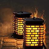 Arzerlize: Outdoor 2 Pack Solar Flame Outdoor Hanging Lights
