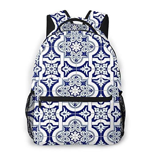 Laptop Rucksack Daypack Schulrucksack Backpack Arabesque Fliesen, Business Taschen Freizeit Rucksack Arbeits Schultasche für Herren Männer Schüler Schule