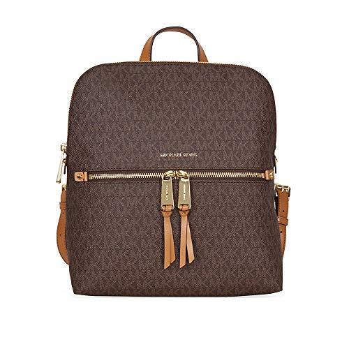 MICHAEL Michael Kors Rhea Zip Medium Slim Backpack Brown One Size