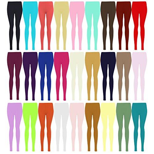 LessThanTenQuid Missloved TM Leggings aus Viskose und Lycra, Übergröße, einfarbig, erhältlich in den Größen 12–26 Gr. 42-44, lime