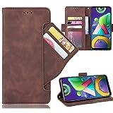 Miimall Handyhülle für Samsung Galaxy M21 / Galaxy M30S, Premium PU Leder Flip Hülle Wallet Hülle mit Kartenfach Magnetverschluss Standfunktion Lederhülle Schutzhülle für Samsung Galaxy M21 - Braun
