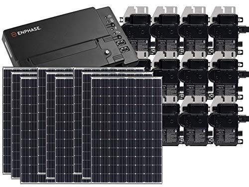 Treepublic High Efficiency Residential Solar Panel Grid-Tied System | Panasonic HIT 335W Solar PV Panels w/Enphase Microinverter System + IQ Envoy & Consumption Monitoring (9kW)