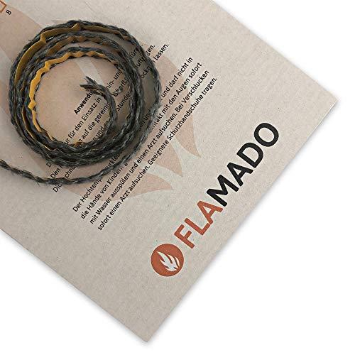 Flamado Ofendichtung (Glasgewebe) Aschekasten 8x2mm / 1m flach selbstklebend