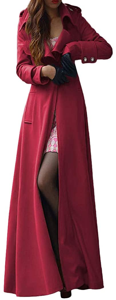Womens Winter Lapel Direct sale Excellent of manufacturer Slim Coat Trench Overcoat Long Parka Jacket