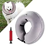 ♥ [SCRATCH AND BITE RESISTANT] - The inflatable collar is designed to protect your pets from injuries, rashes and post surgery wounds, it will prevent pets from biting and licking their injured area or surgical site and promote recovering from surger...