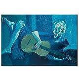 Cuadros decorativos PABLO PICASSO, el viejo guitarrista, pinturas al óleo impresas en lienzo, reprod...